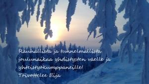 Talvimaisema ja teksti